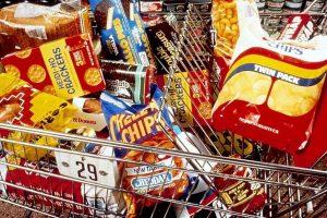 Unhealthy snacks in cart 1