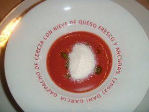 sopas frias aceite de oliva cereza gazpacho